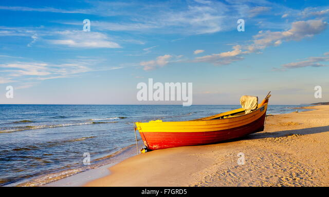 Baltic Sea landscape, Pomerania, Poland - Stock Image