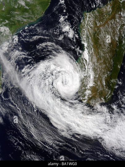 March 25, 2009 - Tropical Cyclone Izilda in the Mozambique Channel. - Stock Image