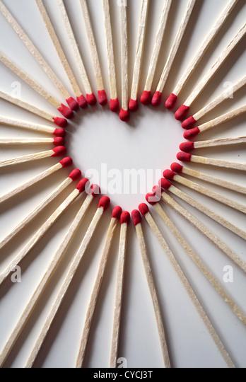 heart,heart shaped,matchstick - Stock-Bilder
