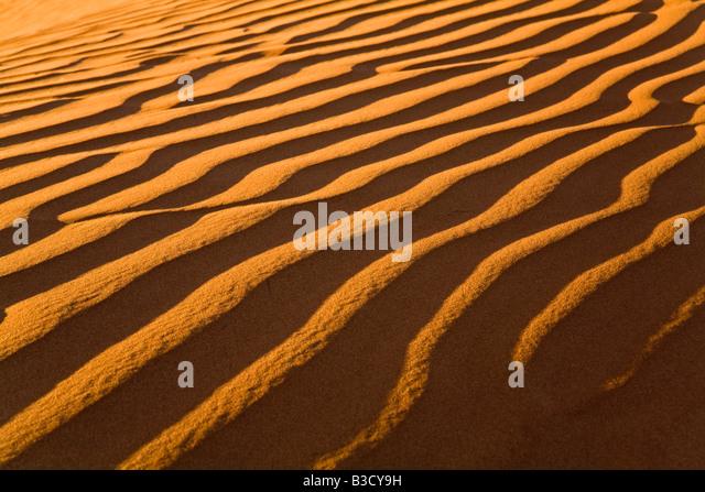 Africa, Namibia, Sand dunes, Namib desert, full frame - Stock Image