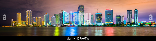 Skyline of Miami, Florida, USA. - Stock Image