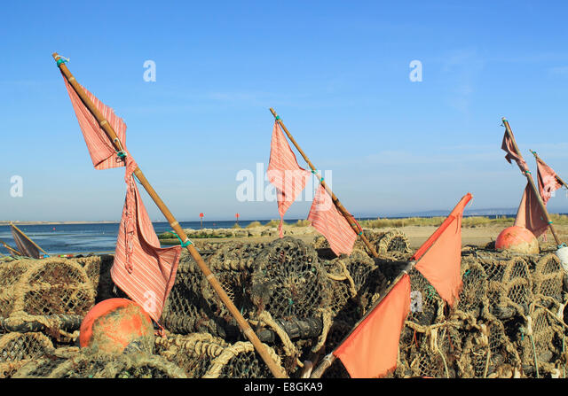 Lobster pots - Stock Image