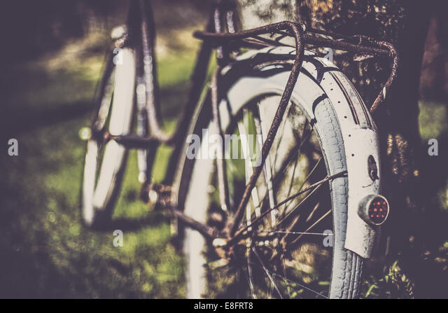 Norway, Close-up of old bicycle - Stock-Bilder