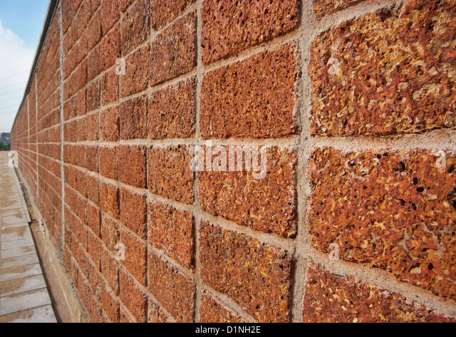 Compound Wall Design Pattern : Red laterite stock photos images alamy