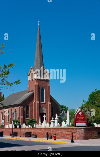 St. Peter's Episcopal Church, Lewes, Delaware - Stock Image
