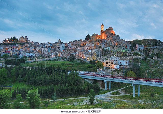 Spain, Murcia Province, Cehegin, View of city. - Stock Image