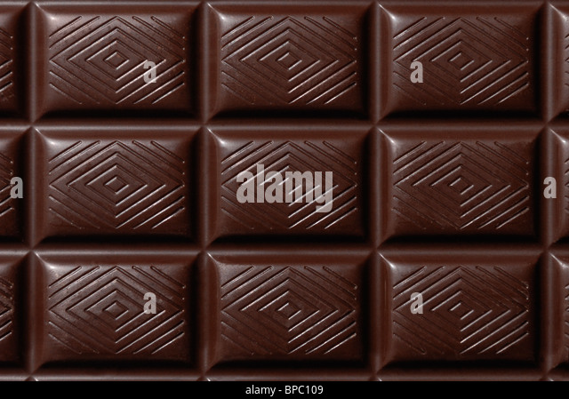 Dark chocolate bar - Stock Image