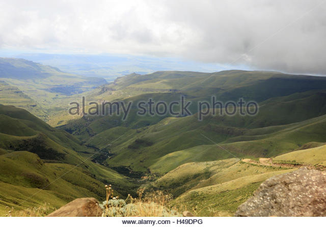 Africa, southern Africa, Lesotho, early Basutoland, province of Mokhotlong, Drakensberge, Sani pass, - Stock Image