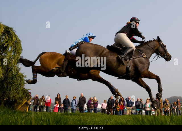 2011, Horse Racing, Isle of Wight, Grand National, Scurry, Ashey, Ryde, UK - Stock Image