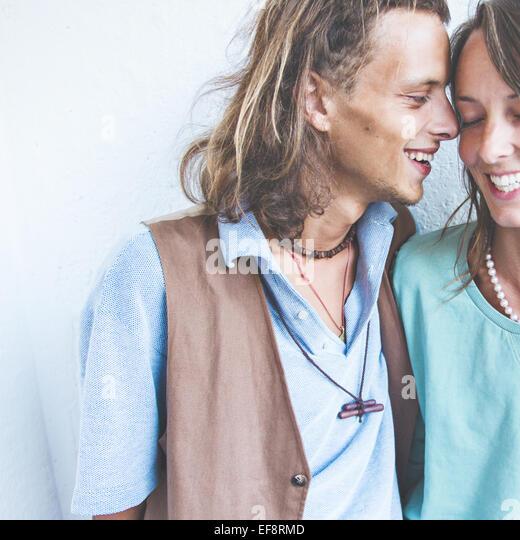 Young heterosexual couple in love - Stock-Bilder