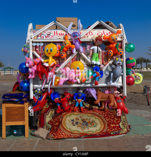 Beach Toys Shop In Jeddah, Saudi Arabia - Stock Image