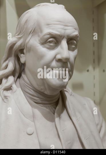 Benjamin Franklin sculpture - USA - Stock Image