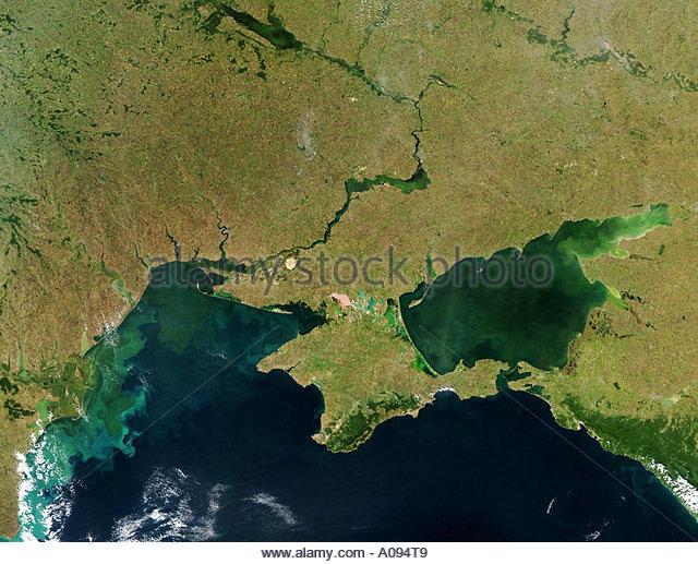 Black Sea Ukraine  peninsula Crimea Sea of Asow - Stock Image