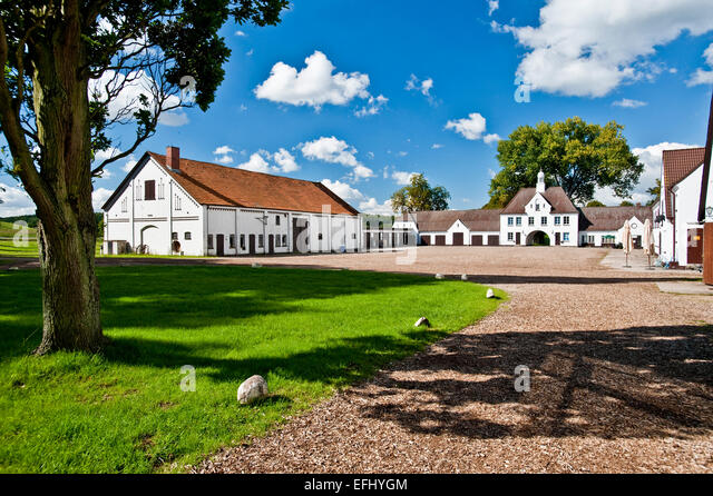 Gut Immenhof known from the movies the Immenhof, Malente, Schleswig-Holstein, Germany - Stock Image