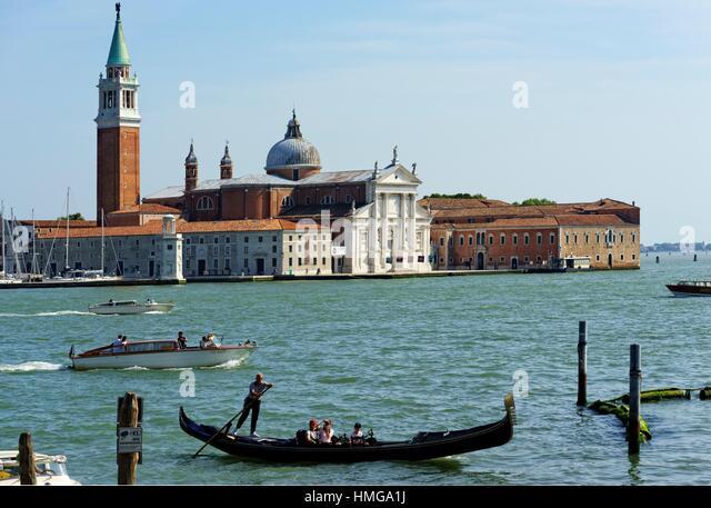 San Giorgio Maggiore church. Venice, Italy - Stock Image