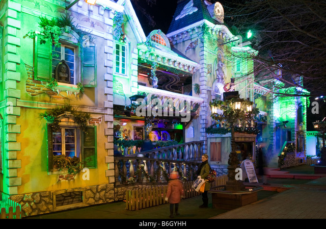 Haunted house - Winter Wonderland Fair - Hyde Park - London - Stock Image