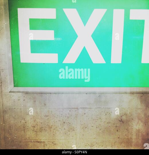 Exit sign - Stock Image