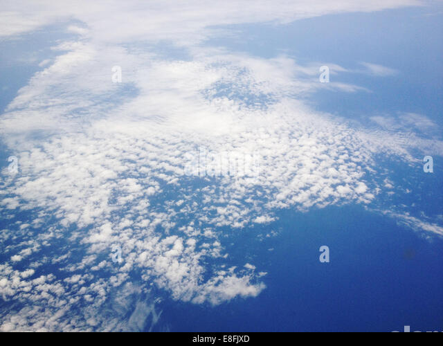 Denmark, Cirrus clouds from above - Stock Image
