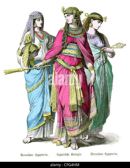 Ancient Egypt Cleopatra Illustration Stock Photos