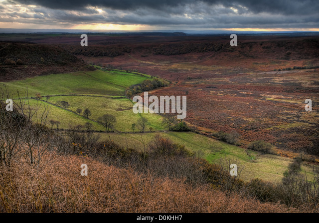A view into the Hole of Horcum. - Stock Image
