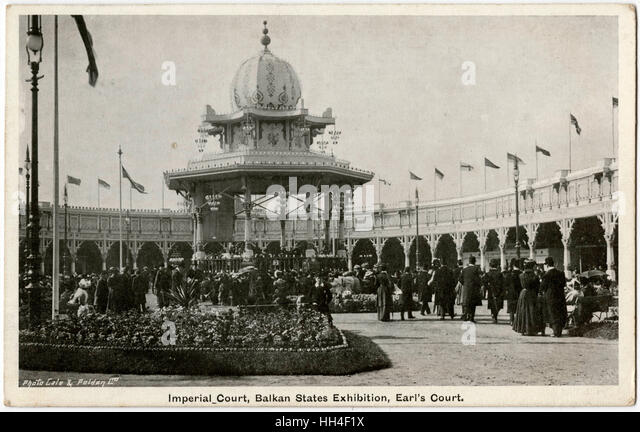 Imperial Court at the Balkan States Exhibition, Earl's Court, London - Stock Image