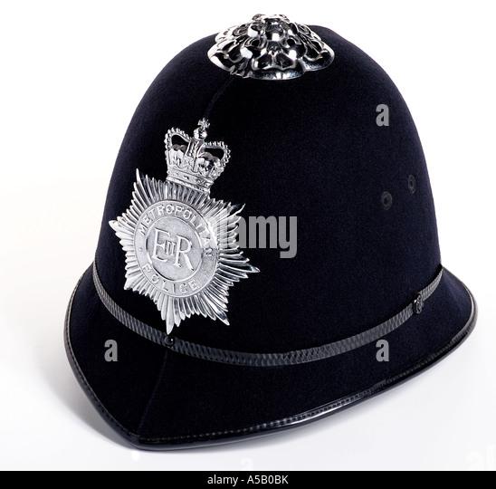 Policemans helmet. Picture by Patrick Steel patricksteel - Stock-Bilder