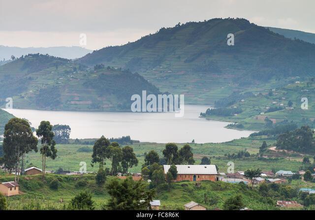 Lake Bunyonyi Landscape, Uganda, Africa - Stock Image