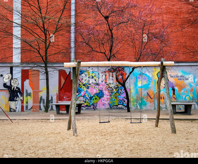 Berlin Germany Old Fashion Park Benches S In