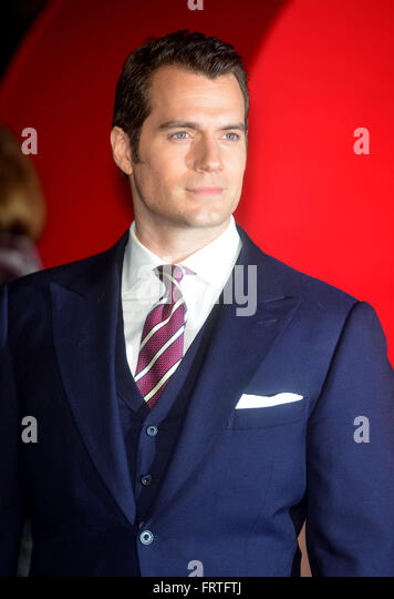 Henry Cavill at the European Premiere of Batman v Superman: Dawn Of Justice, at the Odeon, Leicester Square, London - Stock Image