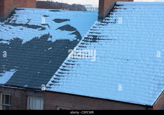 winter heat loss - Stock Image