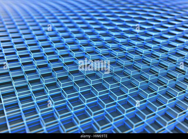 Blue cubes full frame, illustration. - Stock-Bilder