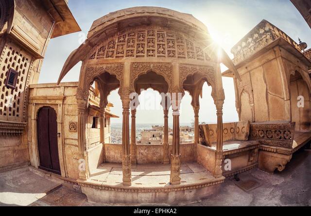 Zenana mahal in City Palace museum of Jaisalmer fort, Rajasthan, India - Stock-Bilder