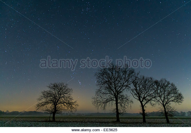 Sternenhimmel, Star Sky spangled sky germany - Stock Image