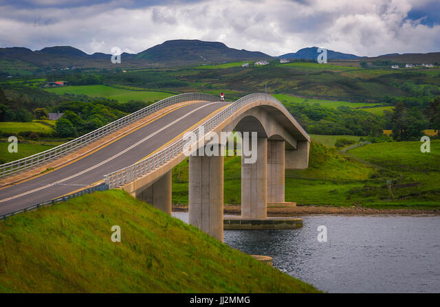 The Harry Blaney Bridge in Donegal - Stock Image