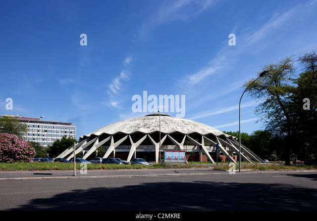 Palazzetto dello sport, Rome. Sports Palace in Rome. A reinforced concrete dome. - Stock Image