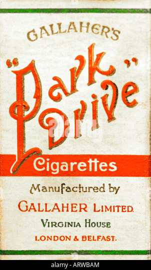 1930s 1940s 1950s 1960s Park Drive Cigarettes pack or packet EDITORIAL USE ONLY - Stock Image