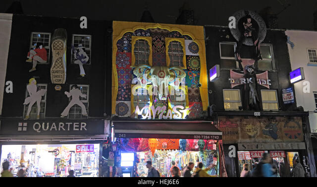 Camden Town at Night, North London, England, UK - Quarter - Stock Image