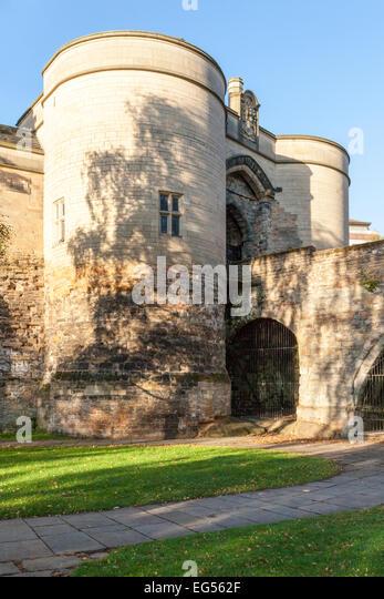 The Gate House at Nottingham Castle, Nottingham, England, UK - Stock Image