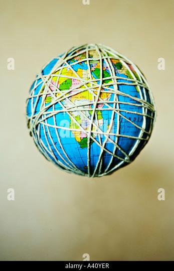 Floating globe - Stock Image