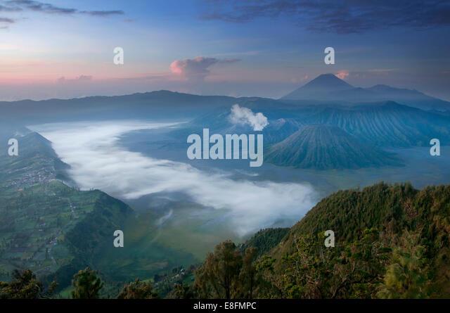 Indonesia, Pasuruan, View of Mount Bromo - Stock Image