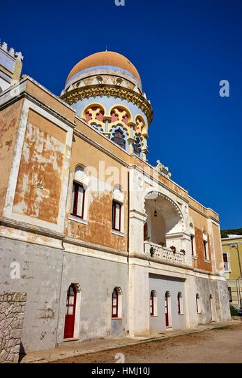 The moorish architecture of Villa Sticchi. Santa Cesarea Terme, Apulia, Italy - Stock Image