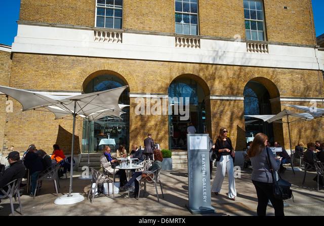 Saatchi Gallery Mess Duke of York HQ Kings Road Chelsea London UK - Stock Image