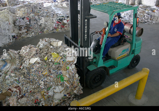 recycling paper - Stock Image