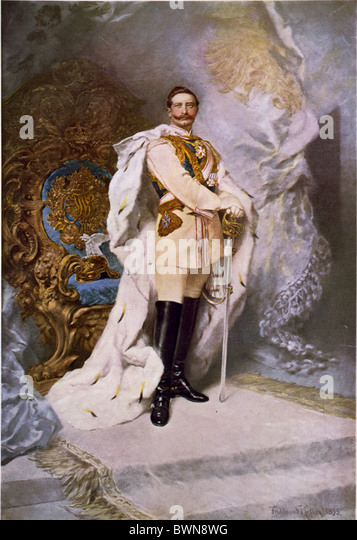 German Emperor Wilhelm II portrait by Ferdinand Keller 1893 Oil on canvas history historical historic paintin - Stock Image