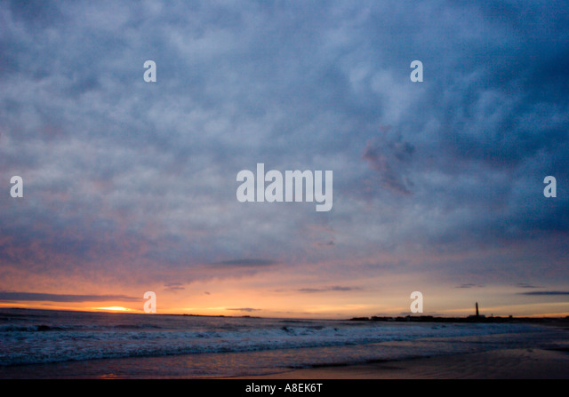 Cloudy morning in Cabo Polonio beach Uruguay - Stock Image
