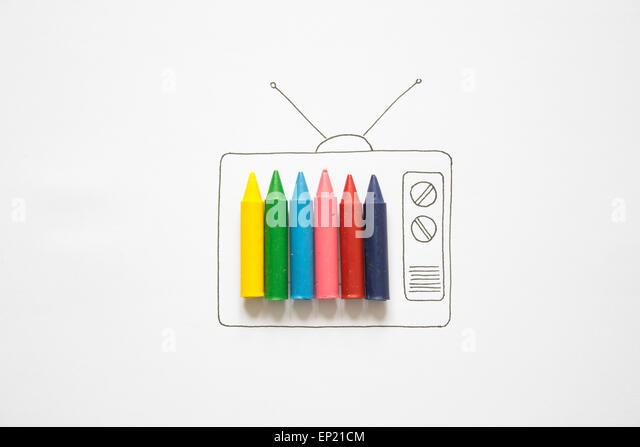Conceptual color television - Stock Image