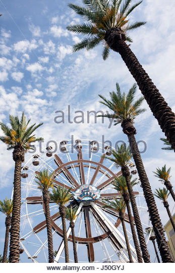 Alabama Orange Beach The Wharf shopping dining entertainment complex resort Ferris wheel tallest in Southeast gondolas - Stock Image