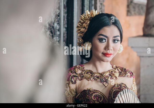 Balinese Beautiful Woman - Stock Image