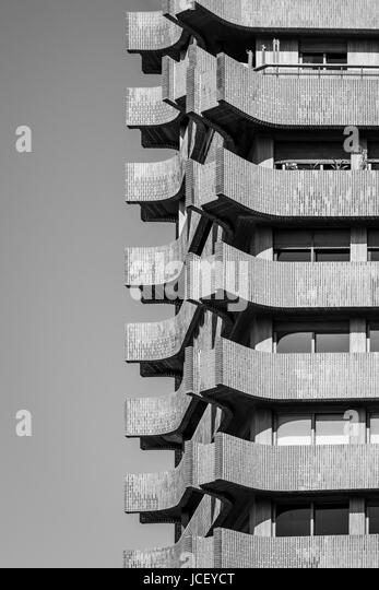 Urban Geometry Abstract Architectural Design. Inspirational Building Artistic Image. Industrial Design. Black and - Stock Image