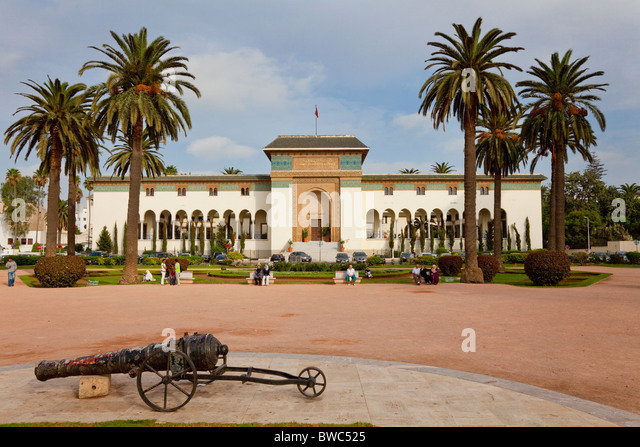 The Mohammed V Square and Palace of Justice in Casablanca, Morocco. - Stock Image